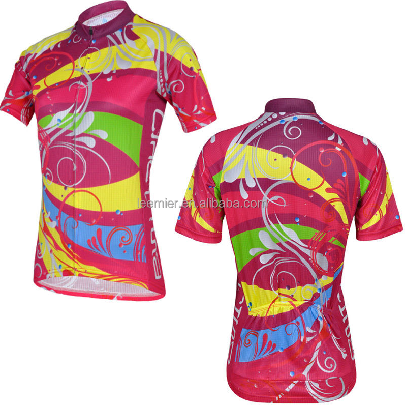 Breathable fashion women cycling top