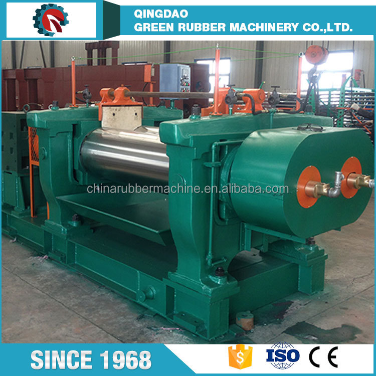 High Performance Natural Rubber Processing Machinery Lab Rubber Two Roll Mixing Mill