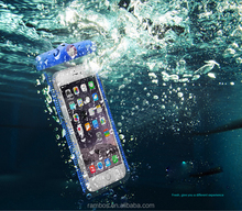 UV Test PVC Waterproof Bag Case Underwater Pouch Diving Case For iPhone 6S Plus for Huawei mate s