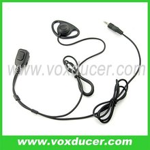 walkie talkie D shape ear hook headset for Motorola ham radio Visar series