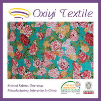 100% printed Single cotton jersey knit fabric wholesale factory,baby cotton frocks designs