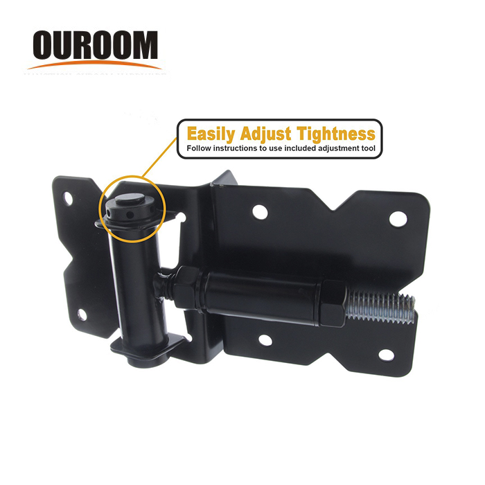 Ouroom/OEM Wholesale Products Customizable XY38951 PVC Fence Soft Close Adjustable Gate Hinge