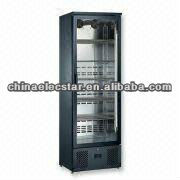 upright stainless steel beverage cooler for Professionals with glass door