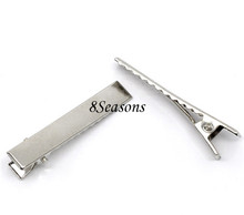 Jewelry Accessories Silver Tone Prong Barrettes Hair Clips
