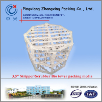 China Factory Sale Bio Stripper/Scrubber tower Packing Media, Plastic Q-pac