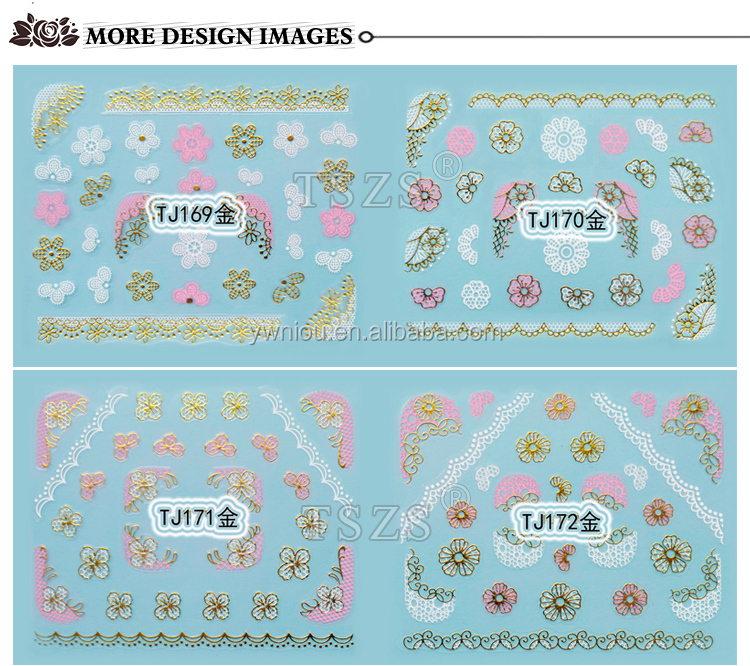 Cute White Beautiful Nail Art Decals Many Styles Custom Nail Art Stickers