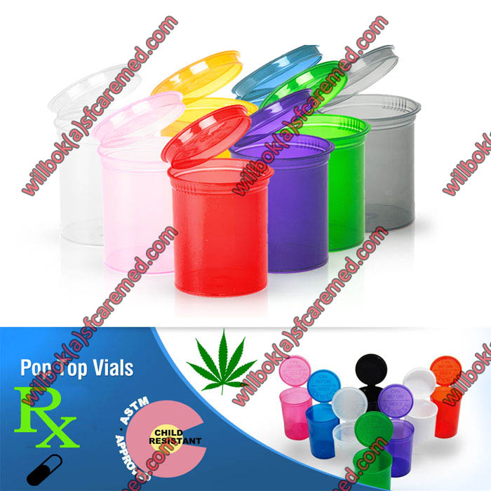 Pop Snap cap vials bottles Jar cap cannabis lid hinged plastic container