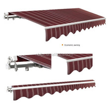 economic outdoor folding arm manual retractable awning