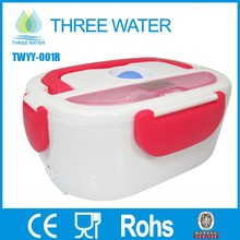 Collapsible electric heating lunch box for home appliance