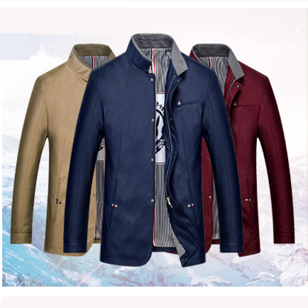 2017 wholesale Mens Outdoor Both Sides Wear Men's Warm Coat Hunting Camping Waterproof Bomber Jacket For Men