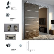 Balcony Complete Solid Wooden Door System Fittings Glass Shower Sliding Doors Rollers Wheels