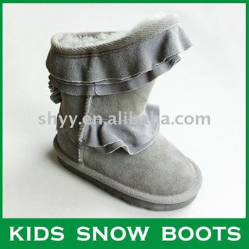 Fashion 2014 Kids snow boots Latest design child boot