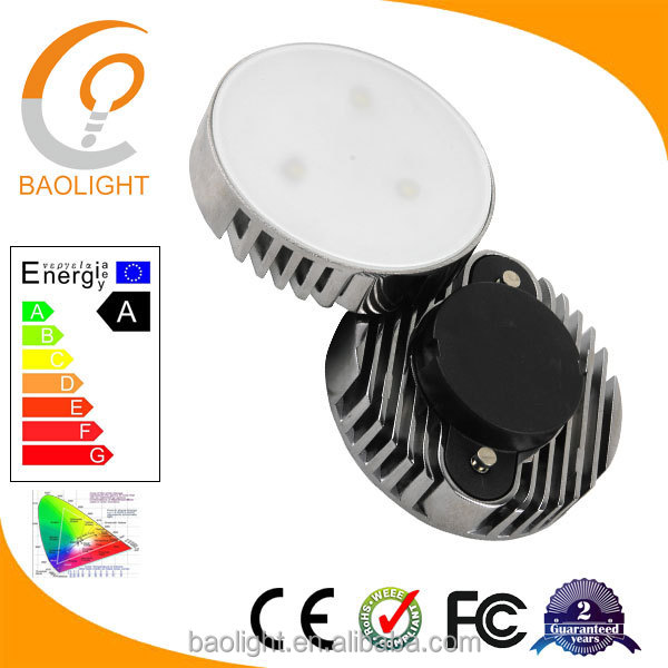 6W GX53 <strong>aluminum</strong> radiator led lights for kitchen frosted cover