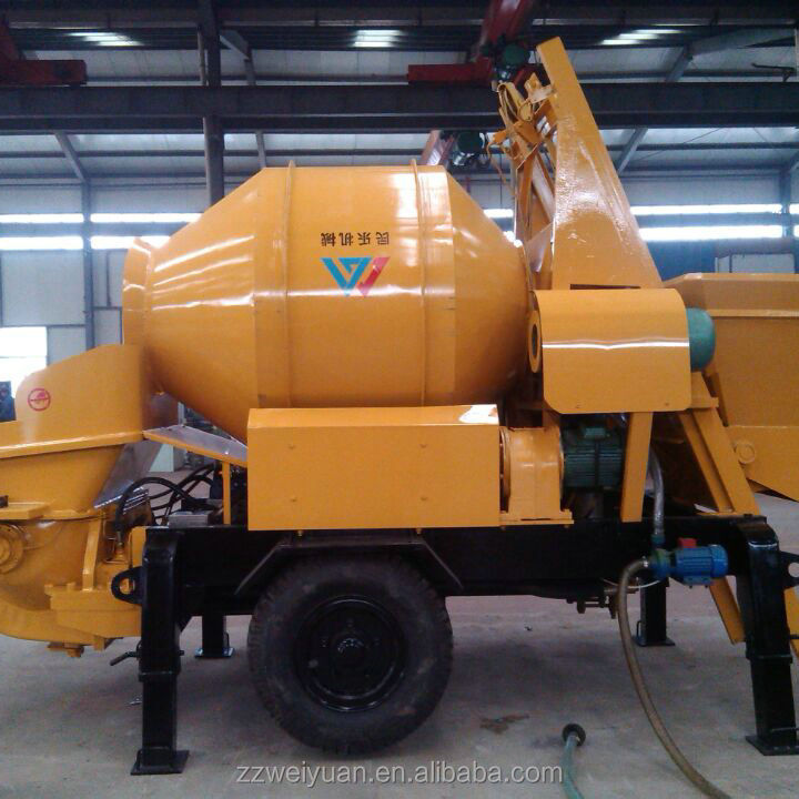 Diesel Generation Mini Small Cement Mixer With Pump 30m3/h