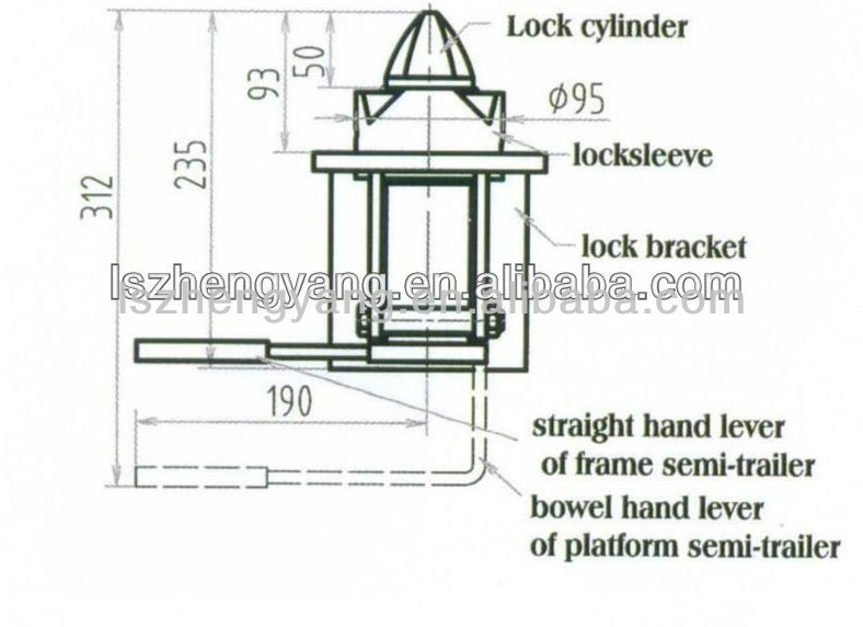 Trailer container twist lock from factory