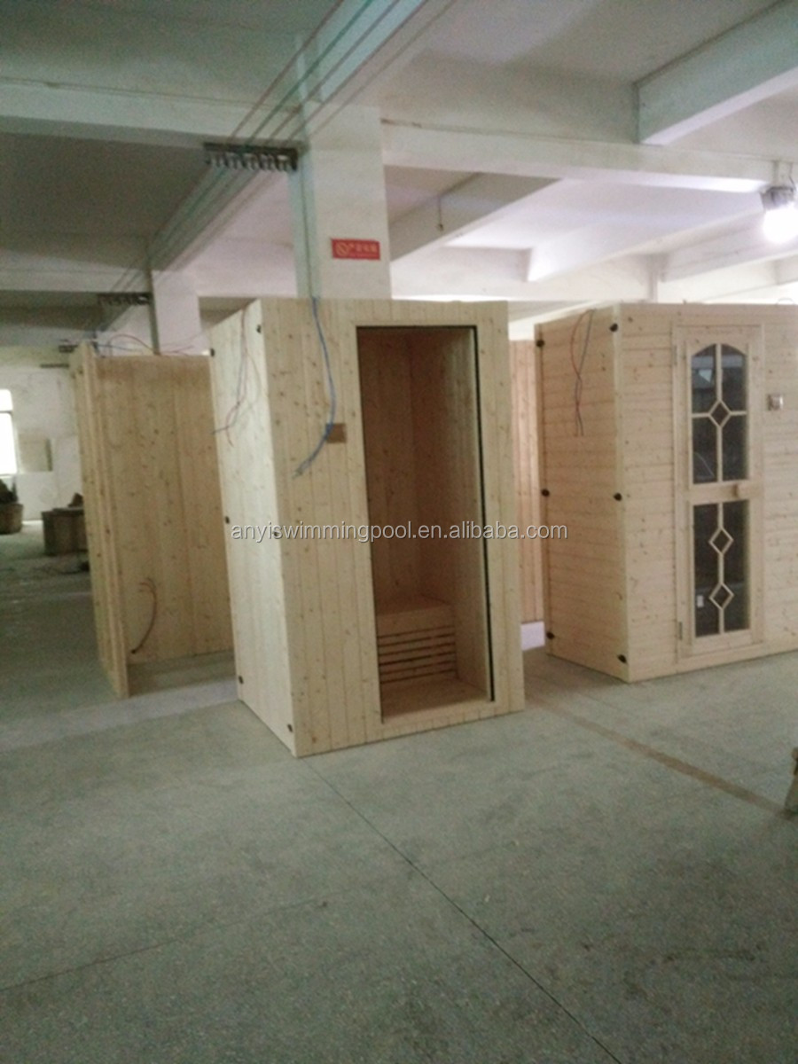 New best price small 1 person corner indoor carbon dry steam sauna room
