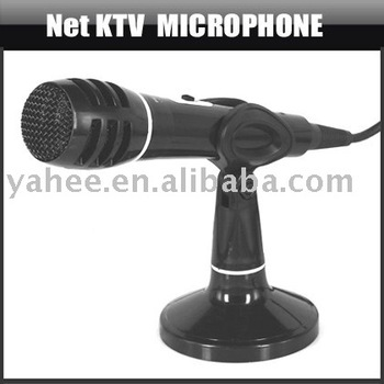 Wired Dynamic DJ PA Microphone Black Vocal Karaoke Mic,YAN304A