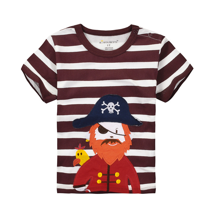 new design breathable kids cartoon t-shirt with pattern