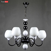wholesale popular big modern round crystal led light E27 hanging luminaire chandelier