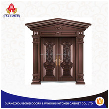 Front door craft imitation copper steel door from guangzhou bomei factory