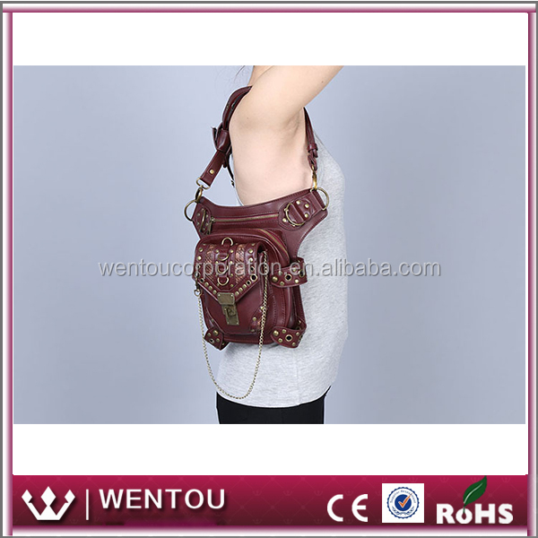 Wholesale Personalized PU Leather Thigh Holster Steam Punk Bag
