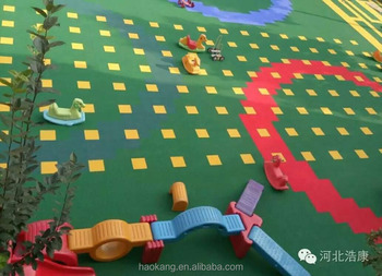 Safe and environmental protection outdoor playground floor tile
