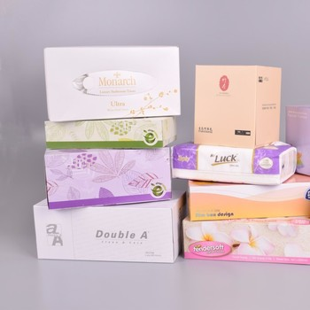 White Virgin Wood Pulp Material Soft Facial Tissue