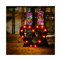 Giant LOVE letters for wedding block style metal letter led open sign