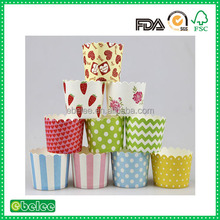 Disposable paper muffin cups for baking cup cake