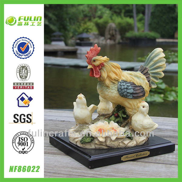 Decorative Resin Tabletop Hen Statue