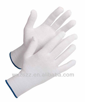 pvc dots comfortable elastic glove from mixture of 95% cotton and 5% lycra. Silicon free - suitable for the automotive industry