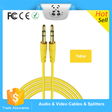 Alibaba China Popular promotional 3.5mm audio aux cable monitor audio cable for Mp3/Mp4/mobile phone