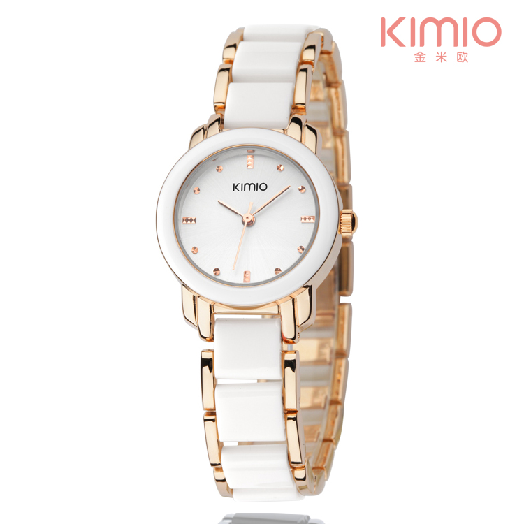 Fashion Kimio ladies value pearl wrist watch manufactures China gold tone watch