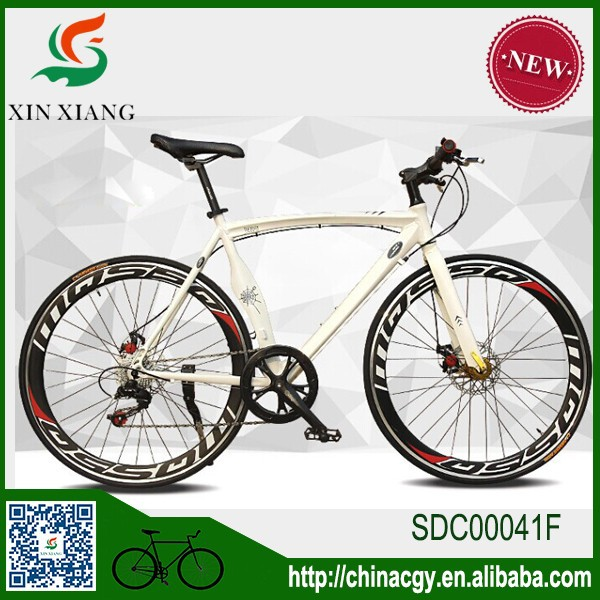 Factory direct sale bend handbar racing cycling,front and real double disc brake aluminum alloy road bike.