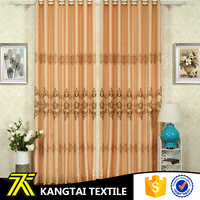 Flower design embroidery, yarn dyed blackout curtain manufacturer for wholesale
