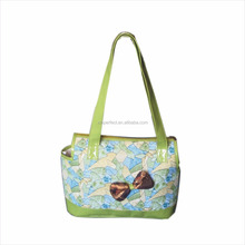 High Quality Pattern PVC and PU leather Dog Carrier Bag