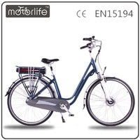 MOTORLIFE/OEM 2015 Europe style 28 inch giant electric bike with back seat