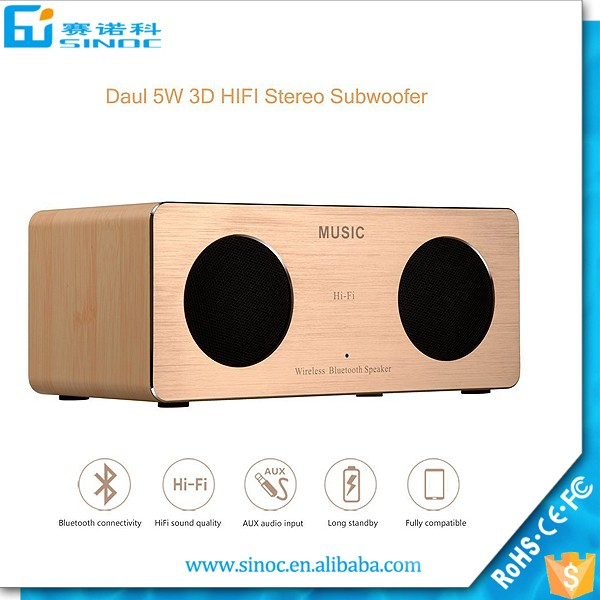High quality <strong>mini</strong> portable wireless 10W super bass hifi wood bluetooth speaker with NFC