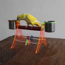 Acrylic Parrot Brid Feeder Display Rack