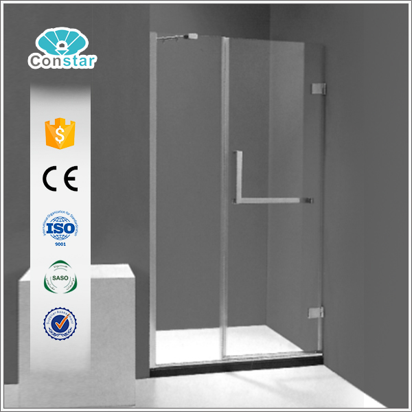 Indian market European style cheap sliding shower screen with 8mm glass frameless shower door