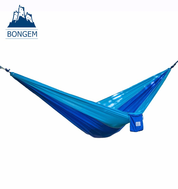 Customized size nylon camping hammock with customized logo