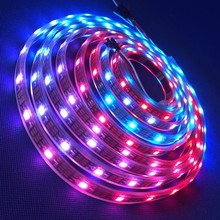 Golden supplier led rgb strips 5050 smd 5m/roll WS2801 WS2812b 144 led pixel strip