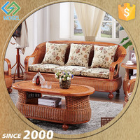 Cheap Chinese Hand Carved Arabic Rattan Indoor Sofa Furniture