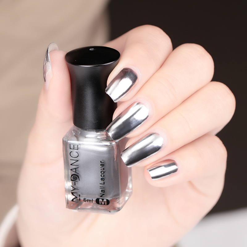 Silver Mirror Nail enamel cheap wholesale chrome mirror nail polish