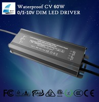 0-10v led light waterproof dimmable driver 60w power supply shenzhen