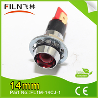 14mm diameter metal led red mini 5v 12v low voltage alarm indicator light