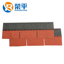 China Hangzhou asphalt shingles 2018 new red 3-tab roof tiles biteman shingles