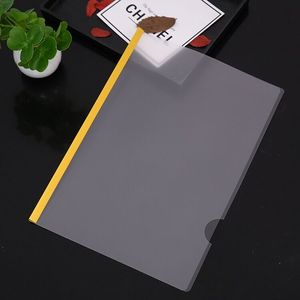 Customized Plastic Clear Report Covers with Sliding Bar Office School Supplies Transparent Resume Presentation File Folder