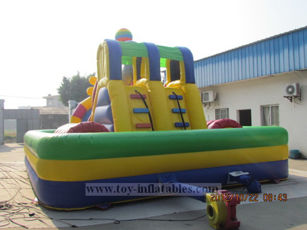 Qualified customized small bouncy castle slide
