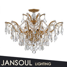 italian candelier,glass parts of cristal ceiling light